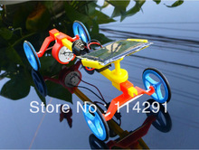 DIY Plastic Solar Powered Toys Christmas Gift Good For Children,Family Educational Mechanical-Mountain Racing Car+Free Shipping(China (Mainland))