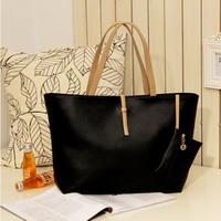 pu leather women's handbags,2013 new fashion style shoulder bags,cheap handbags,black,white sports bags for beach,051