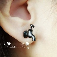 3Min order $10(mix order) e053  Free shipping ,New vintage punk style water faucet stud earrings,fashion jewelry wholesale