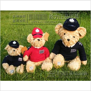 Free Shipping The RUSS high quality plush toys red 45cm London police Bear teddy bear doll soft animal stuffed toys
