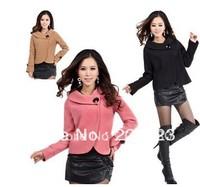 women's  2013 autumn -summer winter women's elegant wool jacket short design wool coat plus size outerwear
