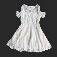 15 years birthday girls dresses 2014 new teenage girl's fashion pearl collar lace dress 7~16age  brand  children's apparel
