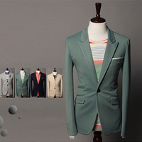 New Style Blazer Men Leisure Suits Coat Slim Fit One Button Suit ,Casual Man Suit Blazers Jacket 2013 Sping Autumn Winter