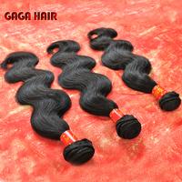 GAGA hair cheap 5A 100% Brazilian virgin hair Body Wave human Virgin hair weaving hair Weft 3pcs mixed length DHL free shipping
