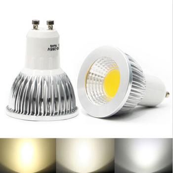 1PCS Free expedited shipping  Dimmable gu10 / E27 / E14 / MR16 / 6W 9W 12W COB AC85-265V High Power Led Light Bulbs