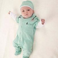 Autumn latest baby suit/2-piece set: doctor costume romper+ hat/Professional little doctor design