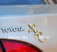 3D Gecko Shape Chrome Badge Emblem Decal Car Sticker Car Accessories Free shipping