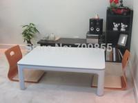 Free Shipping Japan furniture online reversible table top white/grey foldale legs kotatsu low table