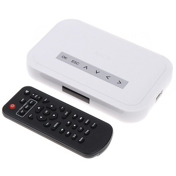 NBOX HD TV SD/MMC Card Flash Hard Drive Disk Media Player Video player with remote control Free Shipping wholesale