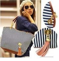 bags Handbags fashion 2013 women Stripe Street Snap Candid Tote Canvas Shoulder Bag