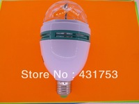 New E27 9W  3*3W  85V-265V/AC  Colorful Rotating RGB 3 LED Spot Light Bulb Lamp ( free shipping )( 2 years warranty )