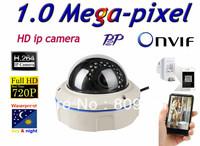 Free shippin CCTV H.264 1.0 Megapixel 1280*720  IP Network indoor Night Vision Security IR Camera