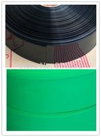 Flatten 130mm/ Diameter 80mm Black/Green PVC Heat Shrink Tube Hot Battery Set Model Envelopers Power Supply Envelopers 10m/lot
