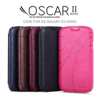 Original Galaxy S3 Luxury PU Case KLD Oscar 2 Retro Leather Wallet Cases For Samsung Galaxy S3 I9300 Black Brown Blue Red Pink