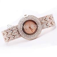 Fashion table ladies crystal watches female watch women's rhinestone sheet bracelet