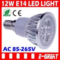 2PCS/LOT High Power Cree E14 Led 12W Bulb E14 Led Lamp Led Light Led Downlight AC85-265V CE/RoHS Warm/Cool White