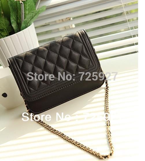 Free shipping 2013 women Designer Handbag Clutch Ladies Shoulder bag Fashion Bags Quilting Chain Cross bag drop shipping(China (Mainland))