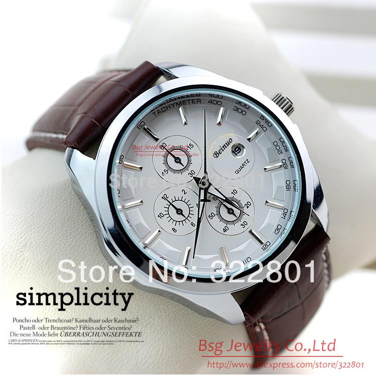 Free Ship relogio masculino Male Clock of Brand Luxury New Fashion Casual man / men Quartz Wrist Watches with Auto Date Calendar(China (Mainland))