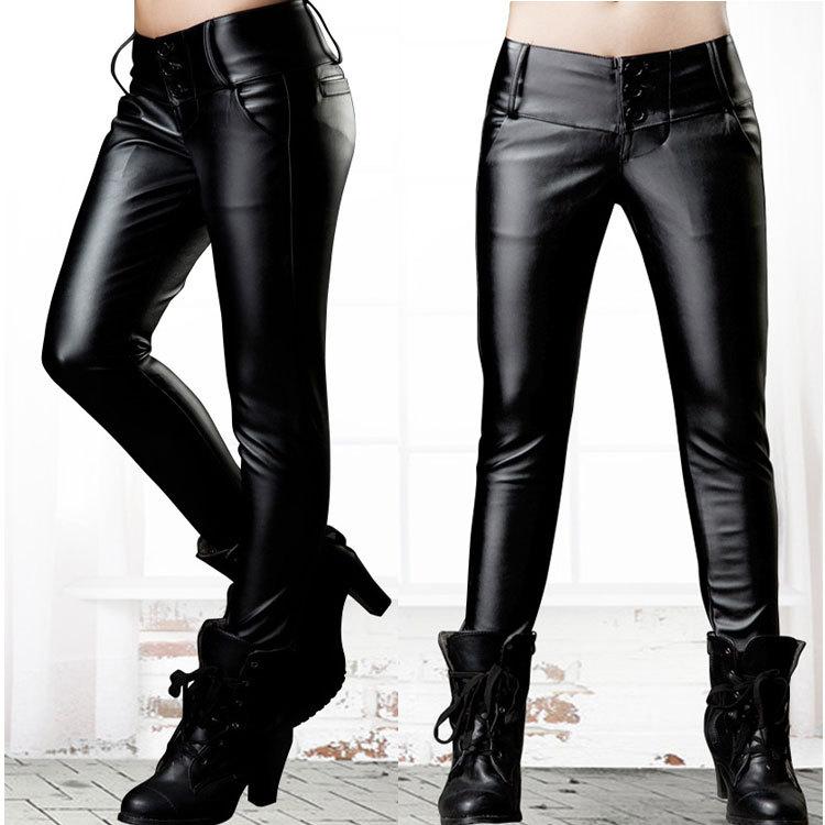 Hot ventes plus la taille nouvelle 2014 femmes. pu élastique pantalon taille haute hiver, down femmes chaudes pantalons pantalons livraison gratuite