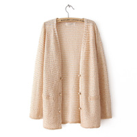 2013 fall autumn new women sweater fashion cardigans long sleeve cotton casual lady's sweaters solid design Y0309