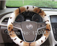 2013 high quality fasion tiger cashmere stereo senior Plush steering wheel cover hot selling products comfor and warm in winter