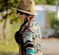 Free Shipping Ladies Girls Women Fashion Hot Sale Straw Hat Cap Sunbonnet Summer Hat