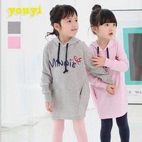 2014  KOREN STYE  Children Cartoon clothing for boys girls Minnie hoodies,minnie mouse baby novelty sweater free shipping