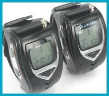 Pair Two Way Radio Intercom Digital Mobile Walkie Talkie Watch Backlit LCD,Travel Wrist Watch Dual Band Interphone Transceiver
