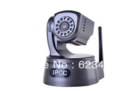 "Free Shipping  Wireless Wifi Indoor/Outdoor H.264 High Definition 1/4"" 1.0 Megapixel 720P IP Camera Integrated ONVIF standard"