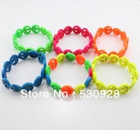 Min. order $10(mix items) new neon fashon bracelets fluorescent Peace handmade turquoise cheap 2014 cheap party jewelry