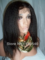 "kinky straight human hair wig.Virgin Brazilian human hair Glueless Front lace wig&full lace wigs10""-26""  Freeshipping(6-86"