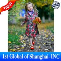 Best Offer 2013 Fashion Kids Trench Coats Designer Girls Coat Printing Flower Children Outerwear Free Shipping