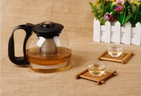 700ML/ 1200ML/ 1600ML  glass coffee & tea pot + 2 cups FREE!!! Big size glass kettle in style of brief vogue, enjoy your leisure