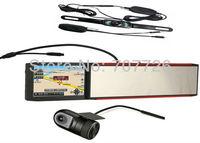 5 inch gps navigation +720P DVR recorder (option) + car rear camera (option) + rear view mirror + Bluetooth+AVIN free shipping