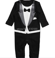 H06 free shipping Baby Romper New Baby boys Romper Gentleman modelling infant long sleeve climb clothes kids bodysuit