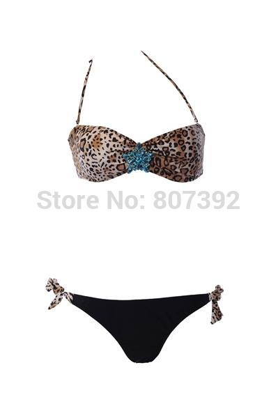 New explosion models sexy women bikini Star Crystal Diamond Bra Bikini Swimwear free shipping DST-261(China (Mainland))