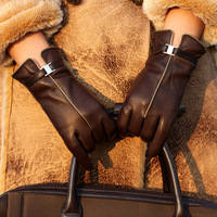 Wholesale Ladies GENUINE LAMBSKIN leather glove, 3 colors Free shipping