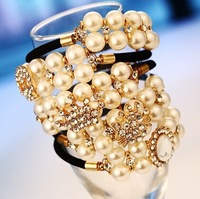 Free shipping 2014 New Fashion Jewelry Hair Accessories Crown Heart Elastic Hair Bands  F082