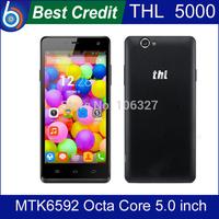 "In stock!Original THL 5000 MTK6592 Octa Core 5.0"" Coning Gorilla Glass 3 16GB ROM 5000mAh 13.0MP NFC Mobile phone/Kate"