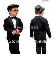 New boy's suit children graduation ceremony clothing tuxedo for boys wedding party wear baby boy Blazer 1-4 Age Free shipping