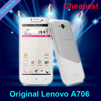 "Spanish Russian Polish Support Lenovo A706 Qualcomm Quad Core CPU 1GB RAM 4GB ROM 4.5"" IPS Screen mobile phone  Free shipping"