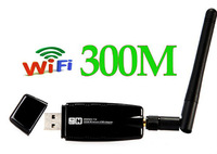 wholesale 300M Wireless LAN WiFi Adapter USB WiFi Network Lan Card with 2dbi Antenna free shipping