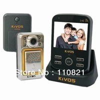 Free Shipping KIVOS KDB300M-4 Wireless Door Viewers Camera Video Night Version Door Phone With DVR Function