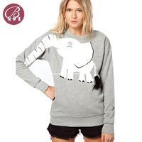 Wholesale 2013 autumn new European style cartoon elephant proboscis long-sleeved round neck sweater Free shipping