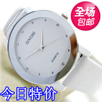 Sinobi Watch fashion rhinestone lovers watch white watch ladies watch strap Free Shipping