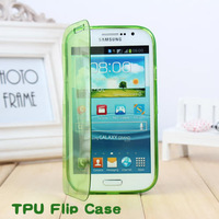 Gift Screen Protector !!! Soft TPU Side open Flip Case Skin Cover For Samsung Galaxy Grand Duos i9082