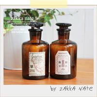 Zakka vintage glass reagent bottle liquid medicine bottle sealed cans alcohol bottle glass bottle stamp 60ML