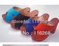 sapatilhas femininos 2014Flip Flops slippers high-heeled platform thick heel rivet open toe cross belt casual sandals for women