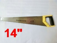 """high quality 14"""" super 65# manganese steel Universal Hand Saws with yellow rubber handle NO.SR-117"""
