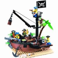 Enlighten Building Blocks Hot Toy Pirate Ship Scrap Dock Construction Educational Brick Toy for Children Compatible Blocks Gift